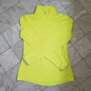 Neon Yellow Nike Quarter Zip Jacket